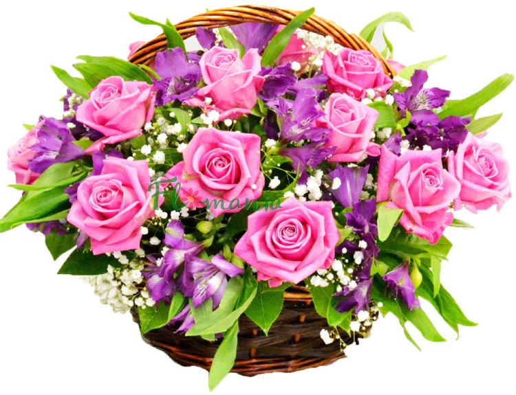 Букет цветов в виде открытки